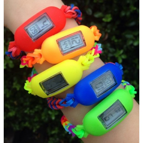 Complete set loom band met horloges  3,50